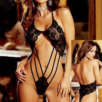 2014 New Hot women's Deep-V Adult Sexy Lingerie Sex Sleepwear Lingerie Sexy Black Underwear 7001