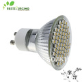 Wholesale Free Shipping! 5pcs GU10 SMD 60 LED Warm White Light Lamp Bulb Wide Degree