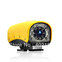 Mini HD Sports Camera 720p 20 Meter Waterproof DVR Cam,helmet camera,mini camera,Free Shipping,Wholesale,#150013(China (Mainland))