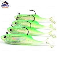 4pcs Soft Lures 127mm length bait with 1 hook 2011 new fishing lure tackle tools RR19 mixed wholesale