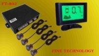 brand new 12V 4 ultrasonic car reversing sensor voice alart colorful background LCD display wired parking sensor  FT-802
