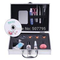 2014 New Wholesale False Eye Lash Eyelash Eyelashes Extension Kit Full Set with Case For makeup Make-up Beauty , Dropshipping