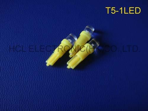 High quality T5-1led auto t5 led automotive, car led t5 light ,t5 led car bulbs free shipping 50pcs/lot(China (Mainland))