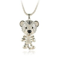 Animal Jewellery  Loverly Tiger Pendants Necklaces Tiger Necklace Free Shipping
