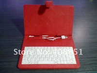 "8"" USB Tablet PC Leather  Keyboard Case for ZT180,Flytouch X220 tablet pc russian keyboard Free Shipping! Dropship"