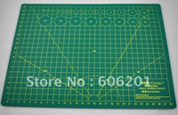 Free Shipping! PVC Self-healing 5-layers professional cutting mat,green double-sided with grid lines(30*22*0.3cm,A4)