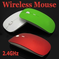 Crystal box packing - Ultra-thin Slim USB 2.4GHz Wireless RF Optical Mouse Laptop Blue-ray Mice Special - MAC Computer XP WIN7(China (Mainland))
