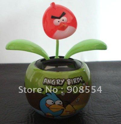 Free Shipping 5Pcs Per Lot Novelty Christmas Gift Solar Dancing Powered Flower(China (Mainland))
