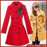 Ladies fashion overcoat Women's Double-breasted Warm Winter Dust Coat Luxury Long windbreak Outerwear Clothes Wool Topcoat
