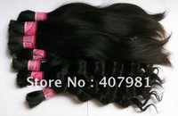 "Cheap Raw India  Human Hair Bulk  Unprocessed Braiding Top Quality  Approx 200g  12"" 14"" 16"" 18"" 20 Inch Natural Straight"