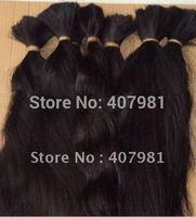"Economic Fashion  Chinese Virgin Human Hair Bulk For Braiding  No Shedding Approx 100g  22"" 24"" 26"" 28"" 30 Inch Natural Color"