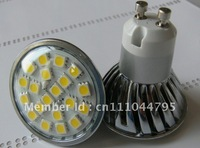 Wholesale Freeship LED Spotlight 20SMD 5050 LED Lamp GU10 Base 4W Warm Cool White With Cover High Brightness 250PCS/Lot Hot Sale