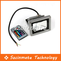 Free shipping 10W RGB Outdoor Multi Color Waterproof  LED Flood Light IR Remote Controller 50pcs/lot Wholesale