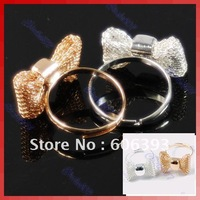 10Pcs/Lot Fashion Exquisite Alloy Lovely Bowknot Cute Rings