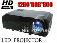 Factory Wholesale 1280*768 HD Projector  Big Screen 200 Inch Projector  Support AV/ SXGA / HDMI / USB With Andriod 4.2 Wifi TV