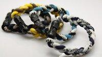 Free Shipping 100PCS Germanium&Titanium Tornado Bracelets 3 ropes braided bands Without Retail Boxes