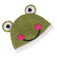 10pcs/lot Freeshipping   Brand New Cartoon animal Cap Handmade Wool knit Children Hat - Frog