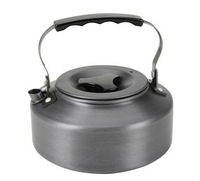 1.1L Flat Aluminum Coffee Teapot Kettle Camping Outdoor