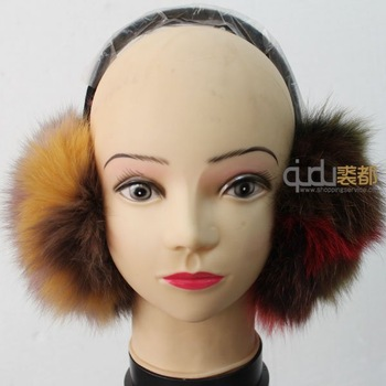 QDLS031 100% Genuine Fox Fur Earcap/Free shipping/Retail/Wholesale/OEM/Hot selling/Hot style