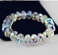 [Mix 15USD] Fashion 6*8mm 32pcs beads AB Elastic Crystal Bracelet