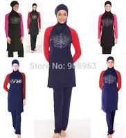 new arrival women long-sleeve muslim swim wear+ free shipping