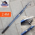 fishing rod 2012 new fashion fishing rods, 6 section 2.4m length fishing pole tools tackle HG03  ,wholesale price