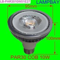 COB LED par30 10W 1000lm bulb  E27 replace to 100W spotlight high quality high lumens