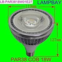 LED par38 18W  COB high lumens high quality bulb high power spotlight  replace to 180W