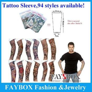 DHL Free shipping,300pcs/lot! 94 styles,Novelty tattoo Most fashion and novelty body arm stockings body tattoo sleeve!
