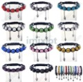Wholesale 5pcs/lot Pave Crystal Shamballa Disco Hip Hop Ball Macrame Woven Bracelet Free shipping