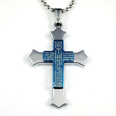 12pcs Stainless Steel Pendant Cross  Pendant Stainless Steel Cross Necklace With Chains Free Shipping