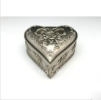 2013 hot sell!! Classical european style Heart-shaped Ornament Tin alloys jewel case dressing accessories box DHL free ship