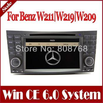 Auto Stereo Car DVD Player GPS Navigation for Mercedes Benz CLS W219 / E W211 E200 E220 E240 E270 E280 w/ Bluetooth TV AUX Radio