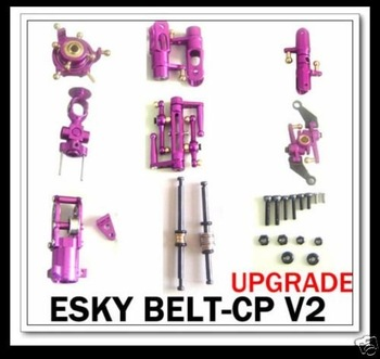 Esky Belt cp v2 CNC Metal Upgrade Head Tail part Purple + free shipping
