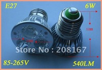 10pcs/pack 100% Cree chip E27 6W LED Light (Warm white and Cool white )