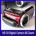 HOT!!! HD C4 Digital Camera 2.7 inch 8X Zoom Digital Video Camera Support Dropship(Hong Kong)