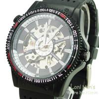 2014  Winner Fashion Sport Army Military Mecahnical Auto Mens Watch Wristwatch Free Ship