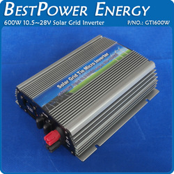 600W Grid Tie Inverter 600W On Grid Inverter, Solar Power Inverter Input DC10.5V~28V Output AC90V~140V or AC180V~260V(China (Mainland))