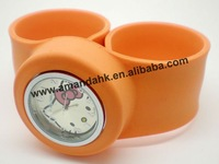 100pcs/lot, hello kitty snap watch, cartoon watch wholesale,12 colors available cute watch for kids.