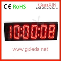5 inch 6 digit red high refresh alibaba express white led digital clock 7-segment display