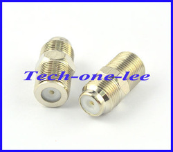 Free shipping (10pcs/lot) F Female to Female Coaxial Barrel Coupler Adapter connector Coax Cable RG6 F81 3GHz(China (Mainland))