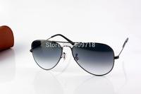 Hot Sell Best Quality Brand Sunglass Men's/Women's Fashion 3025-004/32 Grey Sunglass Grey Gradient Lens 58mm Box