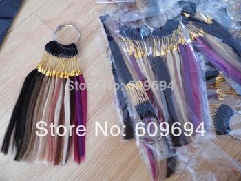 human hair Цвет RING / Цвет CHART for human hair extensions