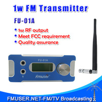 New! FMUSER FU-01A 1W FM PLL radio broadcast transmitter PC control stereo/mono 76 to 108mhz power adjustable from 0 to 1w