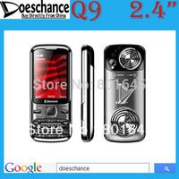 Hot selling Q9 phone TV 2.4'' display dual sim unlocked mobile phone russian keyboard big speaker old man  phone