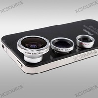 Hot Selling wholesale Wide Lens +Macro Lens +180  Fish Eye Lens For iPhone 5 Mobile Camera +buy 2 get 1 metal ring case for free