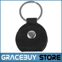 Guitar Pick Holder Guitare Black Pick Bag Case Genuine Leather Keychain Plectrum Key Chain