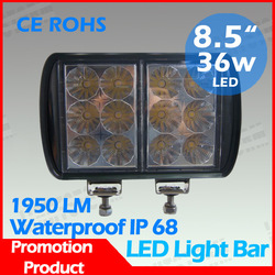 HOT SALE! High quality 4X36W Osram Led High Power Led Work Lamp,2000Lm Off Road Light Bar For Jeep/ATV lamp,9-33V. FREE SHIPPING(China (Mainland))