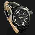 Free ship,New  Militare Big face Protected crown U boat style Mens Automatic Mechanical  wrist Watch,  black Case,
