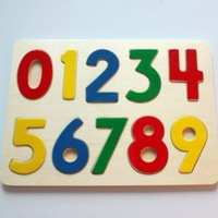 wooden Arabic numerals jigsaw puzzle for children   #2005